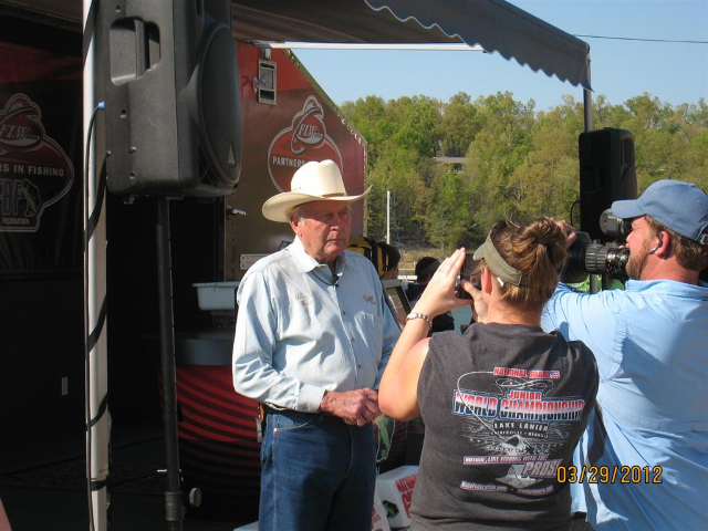 Forrest Wood is interviewed at the 2012 TBF Federation National Championship
