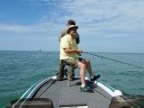 Bill Wood fishes with Senator Geoff Hansen