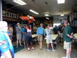 MDNR fisheries biologist Tom Goniea presents the Michigan Tournament Information System info