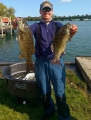 Co-Angler winner Josh Kolodzaike with 2 nice smallmouth bass 2017 TBF National Semi-Final