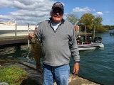 Bob Evans with a smallmouth bass 2017 National Semi-Final