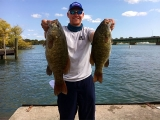 Ross Parsons with two big bass 2017 National Semi-Final