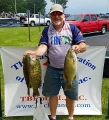 Jack Cahn with his smallmouth bass