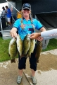 Kendra Mueller with her bass