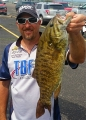 Rick Roberts with a nice smallmouth bass