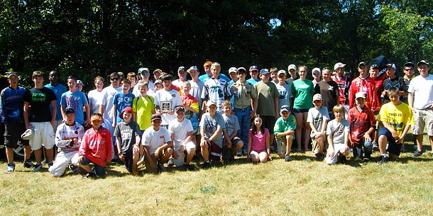June 9 2012 TBF of Michigan Jr State Championship group picture of the child anglers