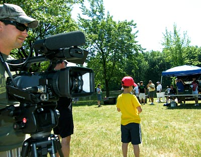 Hook n' Look camera man and co-host Danny Stricker was also present at our 2012 TBF of Michigan Jr State Championship recording the weigh in and youth anglers