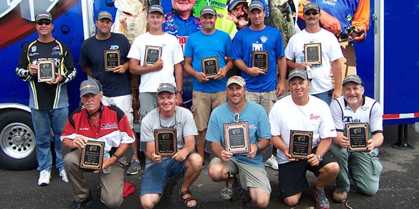 The 2012 TBF of Michigan State Team top eleven, see additional pictures for the tiebreaker anglers