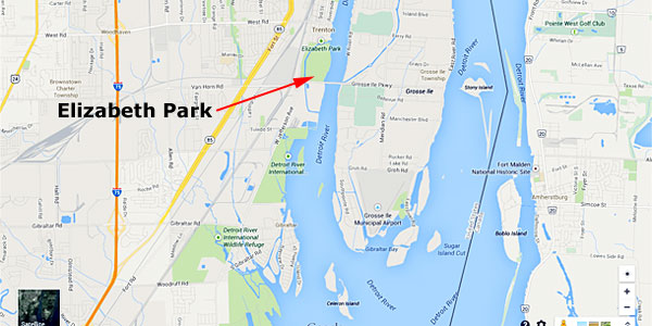 Lower Detroit River Elizabeth Park 2014 TBF of Michigan state championship site August 23-24