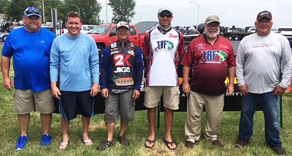 2016 TBF of Michigan state team boaters Randy Kafka, Matt Belletini, Don Watts, Scott Dobson, Dave Reault and Jeff Kellogg