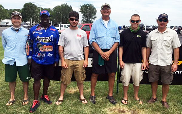 2016 TBF of Michigan State Teams Co-Anglers Jay Shaffer, Tommy Robinson, Alexander Watts, Mike Fedio, Ross Parsons and David Michaelis