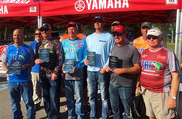 Top ten Michigan-Ohio TBF National Semi-Final boaters.