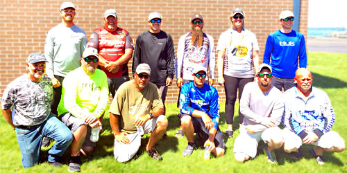 2019 The Bass Federation of Michigan 12 state team members - boaters and co-anglers July 14 on Lake St. Clair (not in order - Troy Stokes, Kerry Frey, Billy O'Banion, Ron Scharphorn, Heath Wagner, Gary Polenz, Chris Majerle, Ryan Hochstetler, Kendra Mueller, Nathan Talaskavich, Corey Marzion, Kenneth Ramsey)